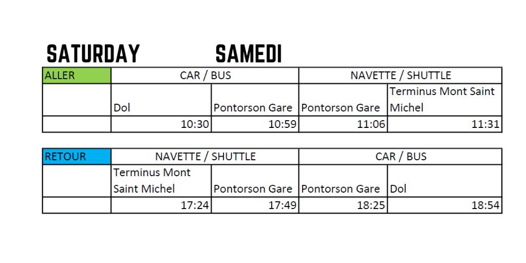 shuttle mont saint michel